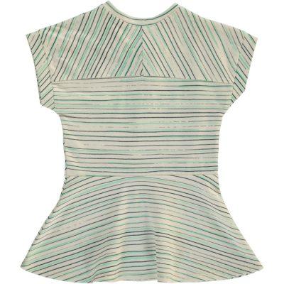 PKS 4090 Dress white with stripes back