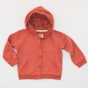 Rote Sweat Jacke aus Baumwolle