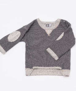 sweater / grau melange
