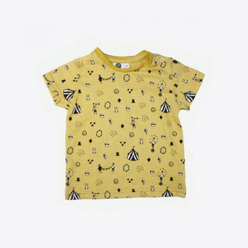 t shirt gelb zirkus vorne
