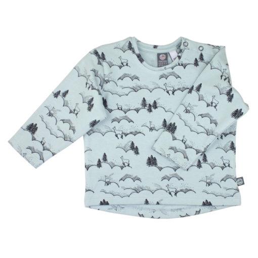 sweater schneelandschaft mint