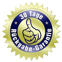 30 tage rückgabe garantie